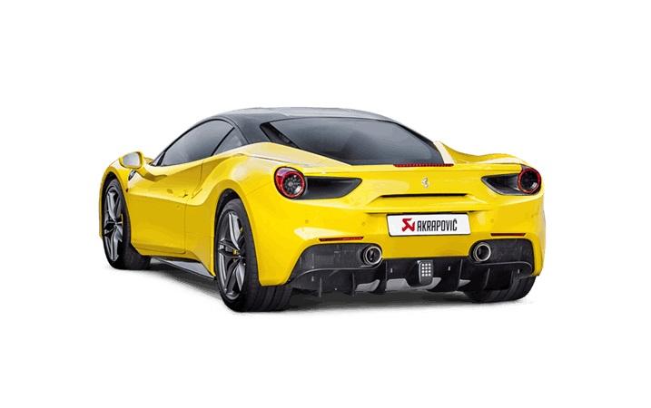 Akrapovic kipufogó rendszer az új Ferrari 488 GTB-hez!